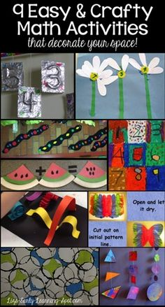9 Easy Math Crafts for Kids - What a fun way to introduce toddler, preschool and kindergarten age kids to numbers, counting, shapes, and more!