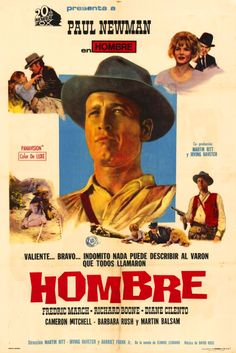 Hombre (4 stars) Wonderfully fitting stoic acting by Paul Newman, a very good job by the other players, and a well-worn but classic western story made this the best western I've seen in ages. Richard Boone was pure evil and seemed to be loving every minute of it. It is well-paced and has great cinematography. Definitely a winner.