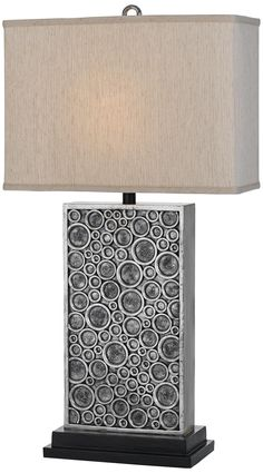 Horizon Holes Hand-Crafted Silver Table Lamp | LampsPlus.com