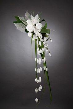 Bouquets de mariée : bouquet mariage : Bouquet de mariée retombant