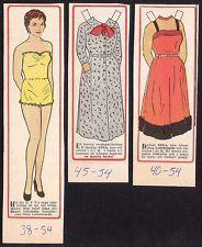 Gina Lollobrigida Rare Vintage 1950s Movie Film Star Paper Doll B