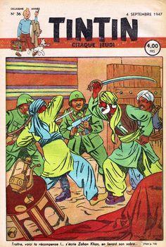 Le Journal de Tintin - Edition Belge - N° 50 - 1947-36 - Jeudi 4 Septembre 1947 - Couverture : Edgar P. Jacobs