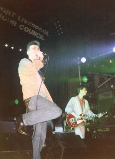 Morrissey and Johnny Marr: The Smiths live at Liverpool Royal Court, February 8, 1986.