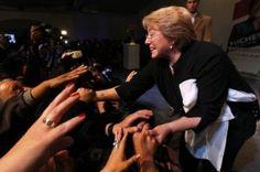 Triunfo arrollador de Michelle Bachelet en las primarias chilenas