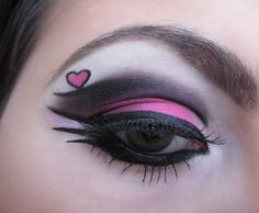 Valentine make-up  Very cool and sexy eye makeup