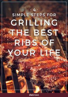 you're looking to grill ribs that literally fall off the bones as you eat them, you're at the right place. We searched high and low for the best tips when it comes to grilling ribs. Pork Ribs Grilled, Bbq Pork Ribs, Grilled Meat, Pulled Pork, Grilled Baby Back Ribs, Smoked Pork Ribs, Grilled Vegetables, Grilling Tips, Salads