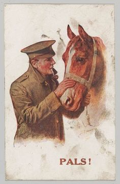"WW1. It was the first poster for England's ""Be Kind To Animals"" campaign."