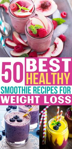 These healthy smoothie recipes for weight loss are the BEST! So many easy smooth… These healthy smoothie weight loss formulas are the BEST! So many simple smoothies that you can put in your green vegetables and fruits for the day! Best Healthy Smoothie Recipe, Fruit Smoothie Recipes, Good Smoothies, Healthy Drinks, Diabetic Smoothie Recipes, Vegetable Smoothie Recipes, Beet Smoothie, Healthy Fruit Smoothies, Smoothie King