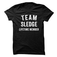 SLEDGE TEAM LIFETIME MEMBER FAMILY NAME LASTNAME T-SHIRT