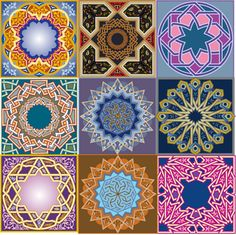 oriantal vector ornaments - islami hat sanatı ve süs vectorleri
