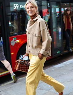 Beige + cacao + jaune pâle = le bon mix (photo Vogue)
