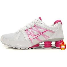 sports shoes e4449 71e45 Womens Nike Shox Agent White Pink Nike Pas Cher, Chaussures Nike Pas Cher,  Magasin