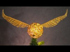 How To Make A Golden Snitch Tree Topper! Harry Potter Christmas! - YouTube