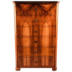 19th Century South German Biedermeier Chiffoniere or Chest of Drawers | From a unique collection of antique and modern commodes and chests of drawers at https://www.1stdibs.com/furniture/storage-case-pieces/commodes-chests-of-drawers/