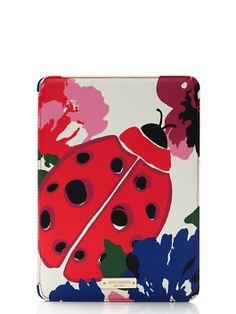 spring blooms with ladybug jewel ipad air hardcase by kate spade new york