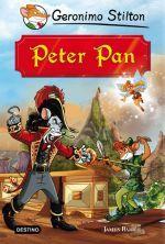 La conocida y apasionante historia de Peter Pan adaptada por Geronimo Stilton  ¿Preparados para un fantástico viaje al País de Nunca Jamás? ¡No necesitáis más que una pizca de polvillo de hada para alzar el vuelo rumbo a nuevas e increíbles aventuras en compañía de Peter Pan y los niños perdidos! ¡Allí os esperan muchos amigos con los que jugar, pero también el terrible capitán Gar? o con su chusma de groseros piratas!