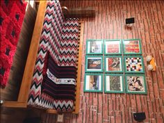 A raw look with a brick wall paper and natural-textured wooden laminate. Home Tour: Avilasha's Bengaluru Home with Global Decor Accents Zebra Print Rug, Global Decor, Asian Paints, Red Mirror, Brick Wallpaper, Sofa Upholstery, Guest Bedrooms, Ceiling Design, Decorating Blogs