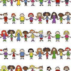 Kinder, Menschenkette, seamless Wallpaper, endlos/wiederholbar, Stick Figure Drawing, Self Compassion, Stick Figures, Painted Rocks, Teacher Gifts, Peanuts Comics, Disney Characters, Fictional Characters, Drawings