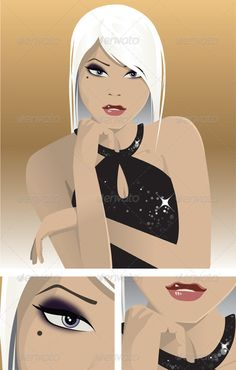 Cosmopolitan Girl Portrait  #GraphicRiver         Vector illustration of a good looking cosmopolitan and fashionable young woman.  	 I know there aren't many detailed illustrations of cosmopolitan party girls on Graphic River, and therefore I created this wonderful looking illustration of a sophisticated girl that can be used in so many different applications.  	 Here are some great ideas where you can use this illustration: - Party flyers - Cosmetic shops - Fashion Editorials - Business…