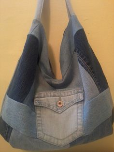 Hobo Bag Made From Upcycled Denim One of a by ArtsyCraftsyBoutique, $29.00