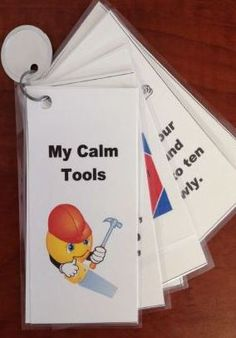 """My Calm Tools Keychain: A Teaching Tool and Visual Prompt"" can be used to teach, practice and eventually prompt the younger, more behaviorally challenged student to use positive replacement behaviors as an alternative to acting out. $"