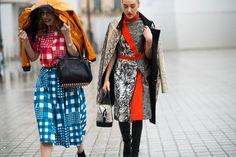 PFW Street Style Day 6 - Photos: Paris Fashion Week Fall 2014 Street Style | W Magazine      February 27, 2014 05:26 PM | by Adam Katz Sinding