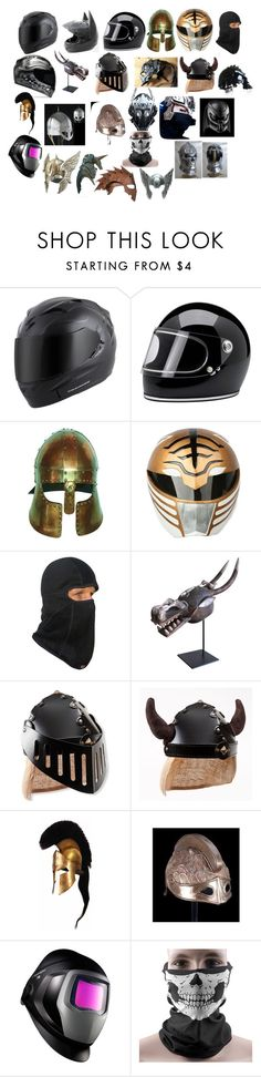 """Helmets"" by asherthecrimsonfox ❤ liked on Polyvore featuring Ultimate, McGuire, 3M and George"