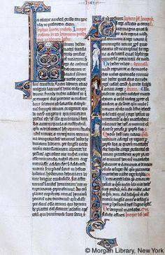 Bible, MS M.111 fol. 27v - Images from Medieval and Renaissance Manuscripts - The Morgan Library & Museum