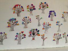 Groep 4, gekleurde bomen