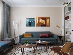 Квартира в московской новостройке, 82 м² Table, House Design, Interior Inspiration, Wall Decor, Furniture, Interior, Home Decor, Room, Coffee Table