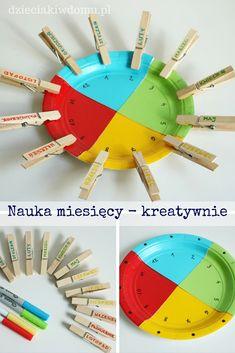 nauka miesięcy - kreatywna pomoc edukacyjna dla dzieci DIY Montessori Kindergarten, Montessori Baby, Preschool, Projects For Kids, Diy For Kids, Crafts For Kids, Diy Crafts, Autism Activities, Activities For Kids