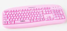 pink computer keyboard for blonds - go to the website to see what's written on some of the keys - too funny but it is for sale in the UK