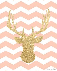 Gold and Pink Deer Head Cute Backgrounds For Iphone, Cute Wallpaper Backgrounds, Pretty Wallpapers, Deer Wallpaper, Girl Wallpaper, Iphone Wallpaper, Paisley Nursery, Apple Watch Wallpaper, Apple Watch Faces