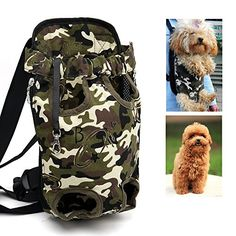 Pet Dog Carrier Backpacks Legs Out Portable Puppy Cat Front Backpack Outdoor Travel Bag Free Your Hands Fit for Traveling Hiking Camping for Small  Medium  Large Dogs M ** For more information, visit image link.