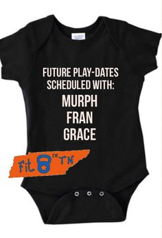 Hey, I found this really awesome Etsy listing at https://www.etsy.com/listing/261737674/crossfit-baby-future-playdates-scheduled