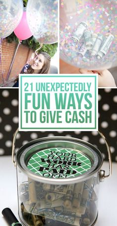 21 Surprisingly Fun Ways To Give Cash As A Gift via BuzzFeed (Great for wedding gifts!)