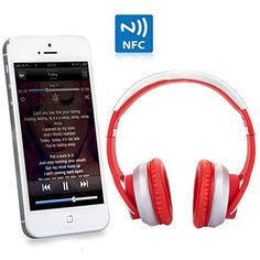 Special Offers - New Syllable G800 Foldable HIFI Stereo Wireless Bluetooth 4.0 NFC Double Moulds Noise Cancellation Headphone Earphone Headset with Microphone for iPod iPhone iPad Samsung Galaxys HTC or Any Other Device with Bluetooth Capability/ NFC Capability/3.5 mm Jack (Red and white) - In stock & Free Shipping. You can save more money! Check It (May 08 2016 at 01:10AM) >> http://ift.tt/1O6uGf0