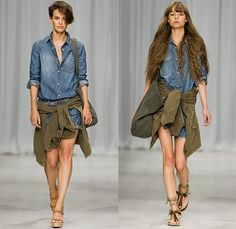 Hunkydory 2015 Spring Summer Womens Runway Catwalk Looks - Fashion Week Stockholm Sweden - Blues Ocean Sky Denim Jeans Flare Bell Bottom Relaxed Fringes Outerwear Coat Jacket Destroyed Destructed Ripped Frayed Holes Faded Retro Sandals Tunic Knit Sweater Jumper Lace Shorts Maxi Dress Onesie Jumpsuit Coveralls Overalls Boiler Suit Salopette Utility Pockets Military Lightweight Tote Bag Shirt Blouse Skirt Frock