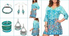 Tunique indienne coton et accessoires assortis à découvrir sur la Boutique en ligne