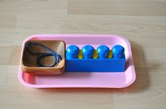 Flossing Tray Practice by SortingSprinkles #FABsmile, This Makes me smile Montessori Style!
