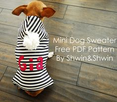 Mini Dog Sweater || Free PDF Pattern