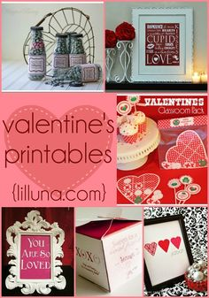 Adorable Valentine's printables!! Free to print and use for super cute Valentine's gifts! { lilluna.com }