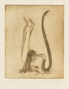 The Cabinet of the Solar Plexus: Leonora Carrington .from a collection of 9 etchings with the title of Una Vida Surrealista Indie, Max Ernst, Mexican Artists, Science Art, Plexus Products, Printmaking, Fantasy Art, Illustration Art, Photos