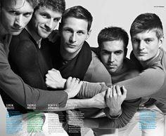 Germany: World Cup 2014 Winners! Michael Ballack, German Football Players, Soccer Players, Toni Kroos, World Cup Winners, World Cup 2014, Football Fever, Football Team, Gq