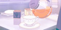 Find GIFs with the latest and newest hashtags! Search, discover and share your favorite Anime Tea GIFs. The best GIFs are on GIPHY. Anim Gif, Gif Animé, Animated Gif, Otaku Anime, Anime Art, Wattpad, Cute Gifs, Anime Coffee, Coffee Gif