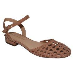 Women's Who What Wear Evelyn Macrame Ankle Strap Flat Quarter Strap Sandals - Tan 6.5