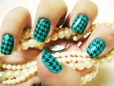 Houndstooth and Turquoise! Two of my favorite things!