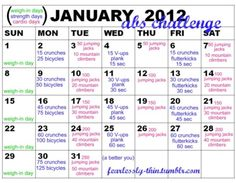 Daily exercise challenges... can't find ones for other months but you could do the same thing each month, or add to it yourself. good idea!