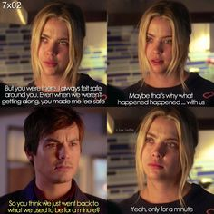 "#PLL 7x02 ""Bedlam"" - Hanna and Caleb so sad just admit your true feelings and get back together"