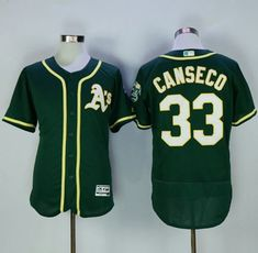f1fc4712b Athletics  33 Jose Canseco Green Flexbase Authentic Collection Stitched MLB  Jersey Nfl Jerseys For Sale